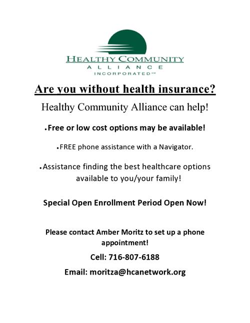 Healthy Community Alliance Flier